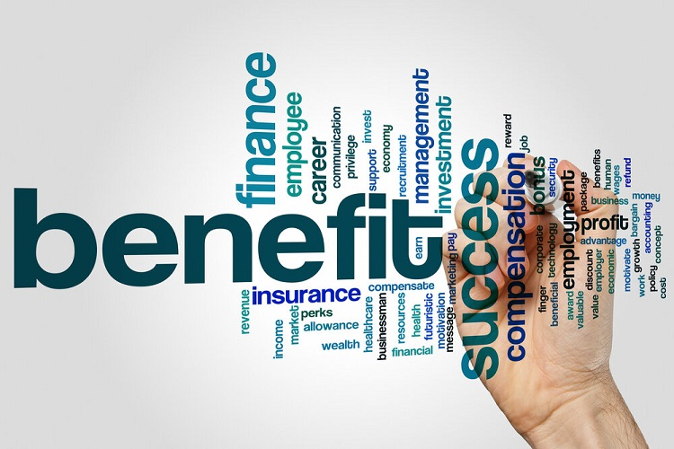 a graphic listing of employee benefits
