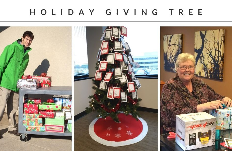 NECCO giving tree picture collage