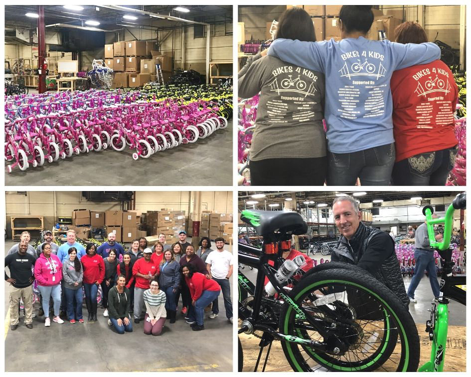 Bikes for Kids volunteer picture collage